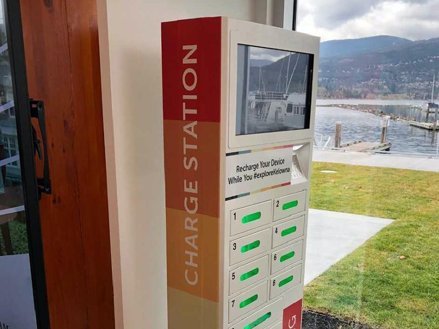 The Rockstar Charging Locker at Kelowna General Hospital
