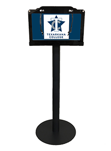 The Hub Phone Charging Station with Stand, custom branding and 6 charging cords for smartphones and tablets.